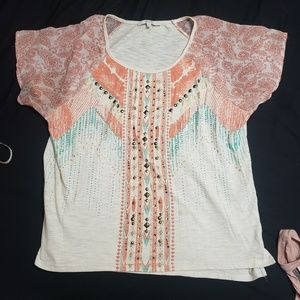 Miss Me Tops - Miss me beaded shirt